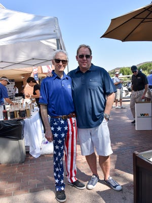 Scott Medlock, right, and Robby Krieger hosted their 10 annual golf and concert event to raise money for St. Jude Children's Hospital.