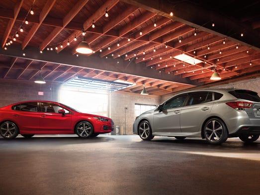 The new Subaru Impreza sedan and 5-door hatchback.
