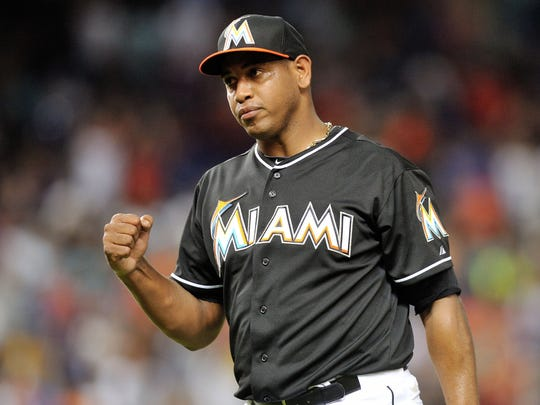 Carlos Marmol of the Marlins on April 5