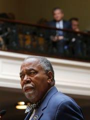 Senator Gerald Neal appeals to senate members to vote