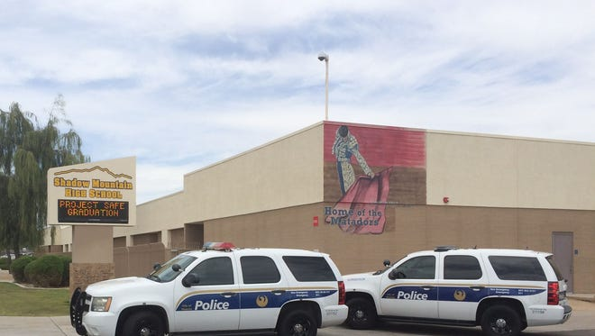 """Phoenix police were at Shadow Mountain High School on Thursday, May 21, 2015, after a school administrator found a student with a """"hit list,"""" according to officials."""