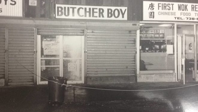 The exterior of the Butcher Boy meat shop at 1717 Main St., Peekskill, in December 1991.