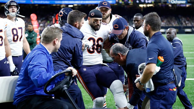 Zach Miller is recovering in a New Orleans hospital.
