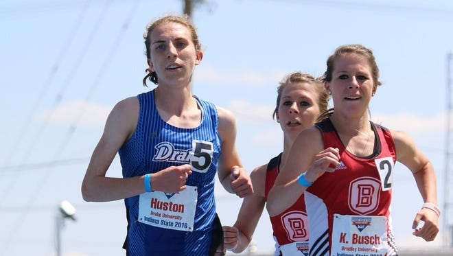 Emma Huston, at the Missouri Valley Conference Championships in Terre Haute, Ind.