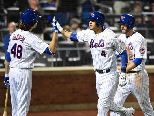 Wilmer Flores, Eric Campbell, Jacob deGrom