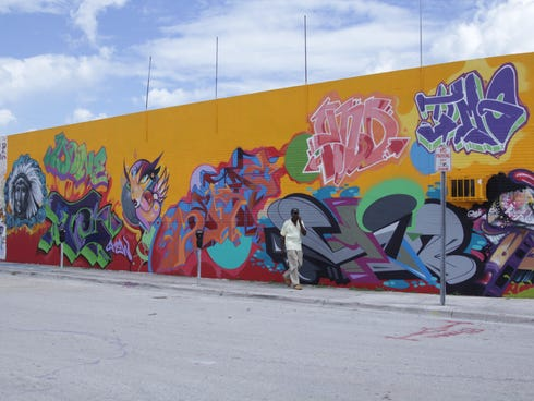 Local street in the Wynwood area of Miami
