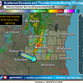 Thunderstorms moving through southern Wisconsin. Look for rain in Milwaukee, but nothing severe.