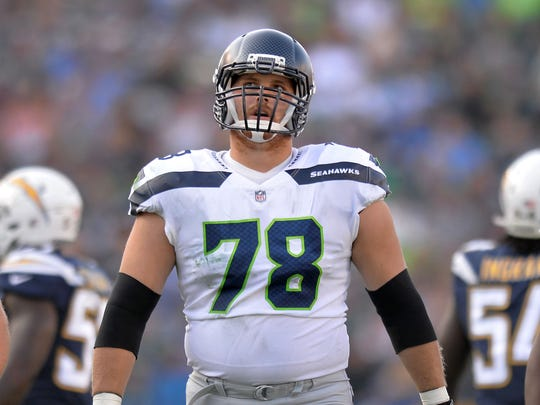 Seattle Seahawks guard Luke Joeckel (78) wide receiver