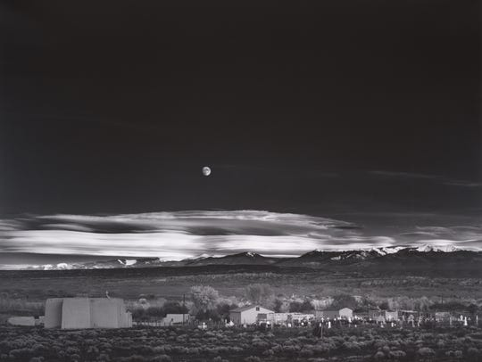 Moonrise, Hernandez, New Mexico, 1941.  Photograph