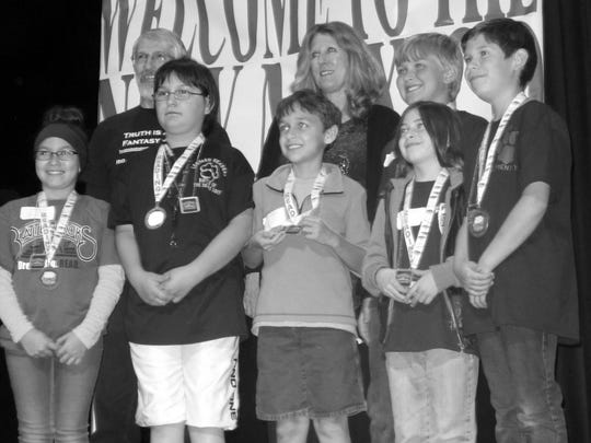 The second place team included White Mountain Elementary's Caylin Kinney and Ty Oberheu.