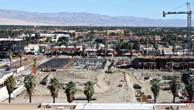 Lucas Esposito/The Desert Sun The construction site for the downtown Palm Springs redevelopment project, as seen in November 2015.