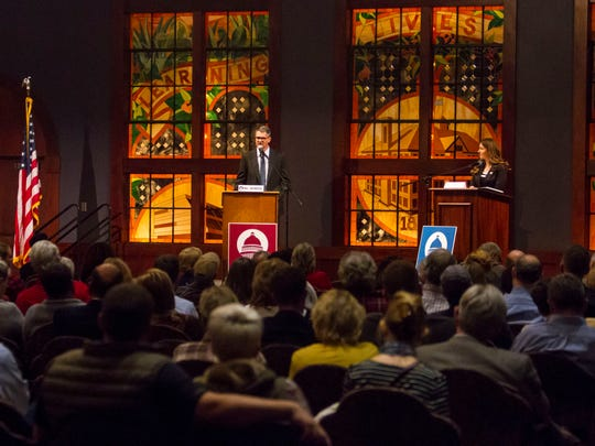 Mayoral candidates meet for a debate at Southern Utah University by the Michael O. Leavitt Center for Politics & Public Service, Tuesday, October 17, 2017.