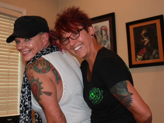 Lindsay Fulk, owner of Prismatic Ink Tattoo in Lebanon,