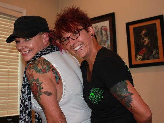 Lindsay Fulk, owner of Prismatic Ink Tattoo in Lebanon,