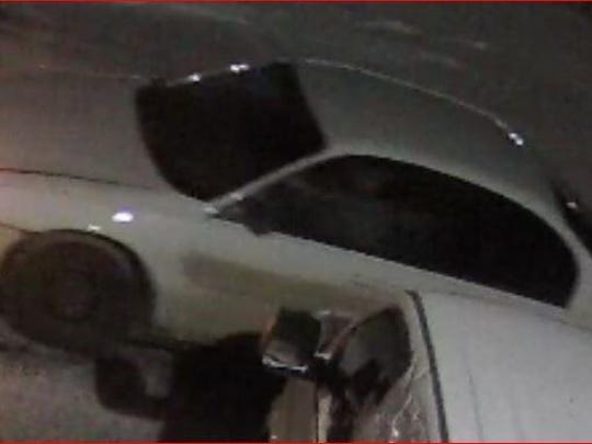 Police believe this car was used as a getaway vehicle in a series of larcenies.