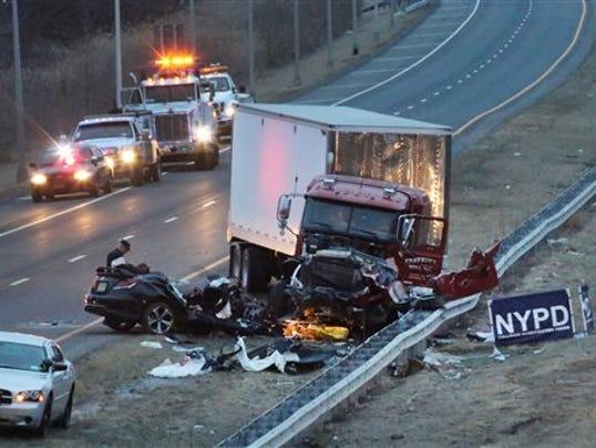 Accident Rt  Car Wrong Way Nj