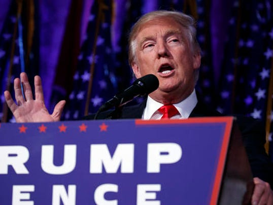 President Elect Donald Trump Speaks During An Election Night Rally Wednesday Nov 9 2016 In New York Photo Evan Vucci Ap