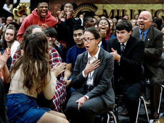 As students and faculty cheer, shocked Millington Central