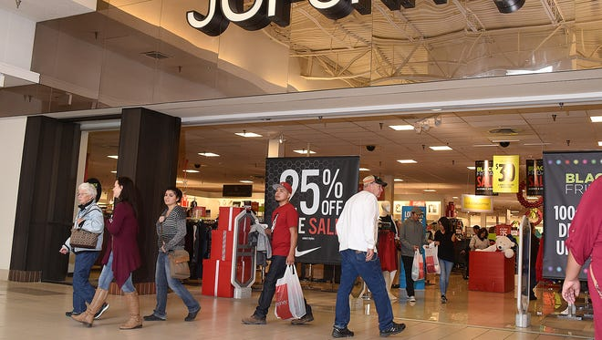 Black Friday shoppers come and go from the JCPenney location at the Animas Valley Mall on Nov. 25.
