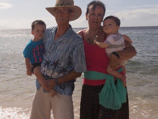Mike & Betty Wagner & grandkids