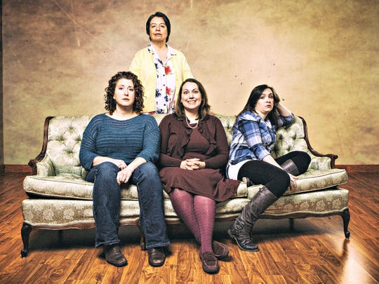 "From left: Becky Scholtec, Mary Bricker, Susan Sheriff and Tiffany Flory star in Tallgrass Theatre's staging of ""Independence"" in West Des Moines."