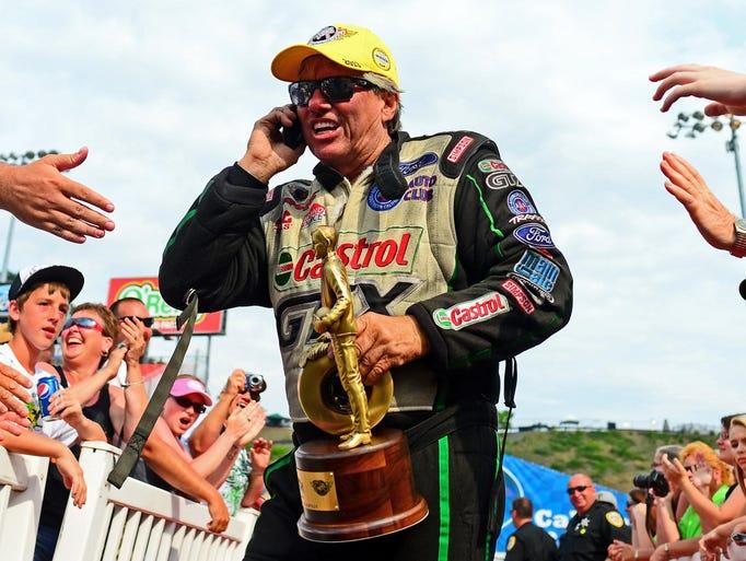 John Force, born May 4, 1949, in Bell Gardens, Calif., began his NHRA Funny Car drag racing career in 1978.