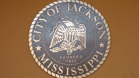 The council chambers in Jackson City Hall has a city