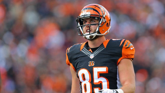 Cincinnati Bengals tight end Tyler Eifert (85) against the Buffalo Bills at Paul Brown Stadium.