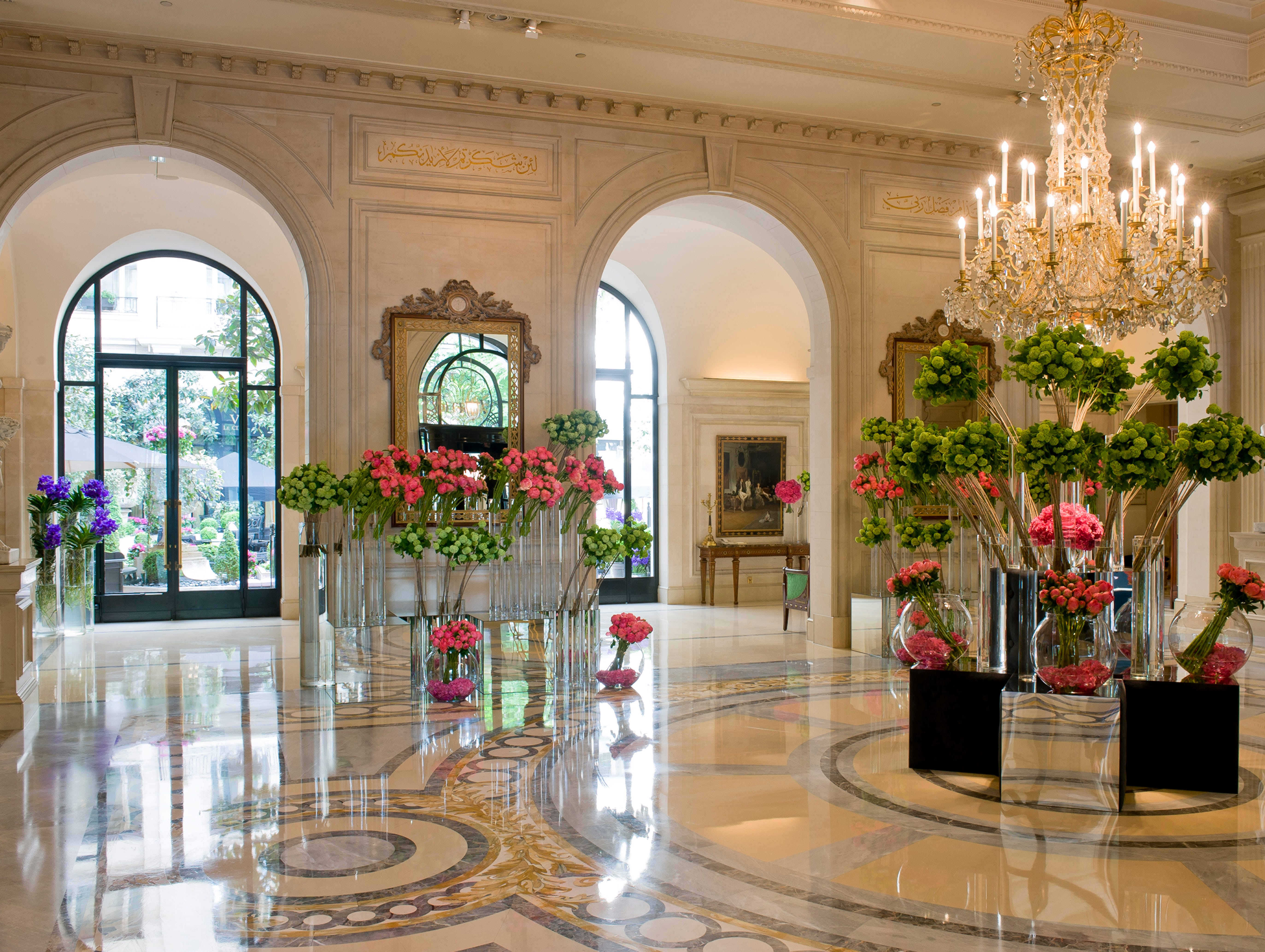 The elegance of the Four Seasons Hotel Paris George V oozes Paris sophistication and was even incorporated into the film 'French Kiss.'