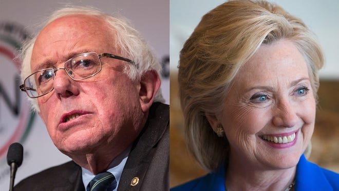 Independent Vermont Sen. Bernie Sanders and former Secretary of State Hillary Clinton are the top candidates for the Democratic presidential nomination.