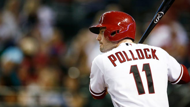 Arizona's A.J. Pollock prepares to bat against the Cincinnati Reds on Friday, May 30, 2014 at Chase Field in Phoenix.