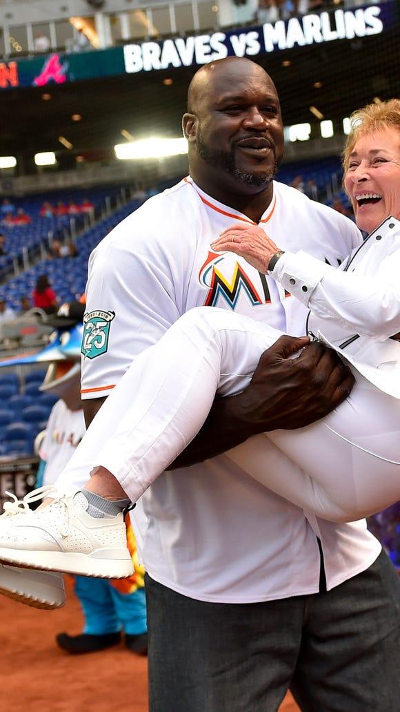 USP MLB: ATLANTA BRAVES AT MIAMI MARLINS S BBN MIA ATL USA FL