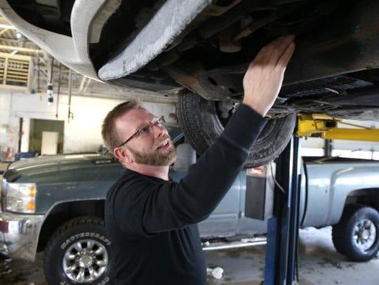 Dave Brown, owner of the DIY Garage in Urbandale, Iowa,