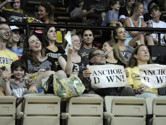 Fans watch the game   in a very hot memorial gym as less than 200 stayed to watch the game Tuesday June 23, 2015, in Nashville.