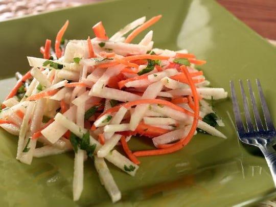 Carrot-Jicama Salad bright flavor and crunch texture
