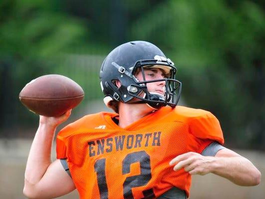 Ensworth quarterback Coleman Goodwin takes over for PJ Settles.