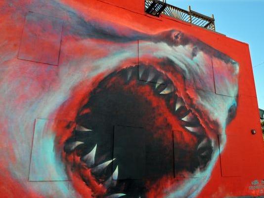 SHARK MURAL EAU GALLIE