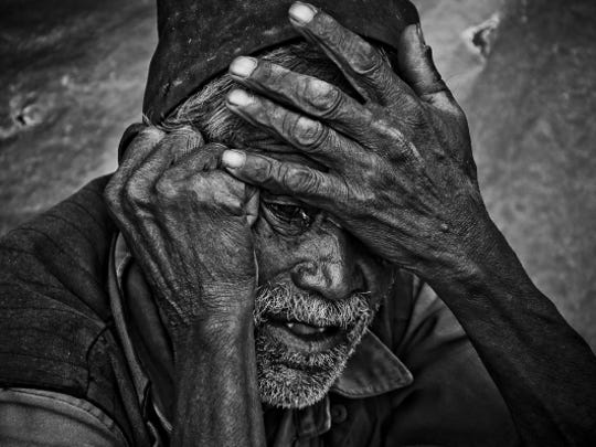 A photograph by Kailash K. Shrestha featured in the Global Art Collective exhibition currently in Reno.