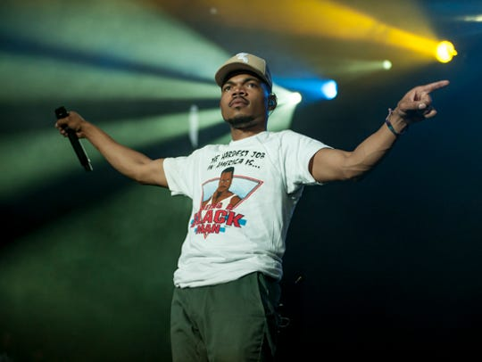 Chance the Rapper performs on the Surf Stage at the