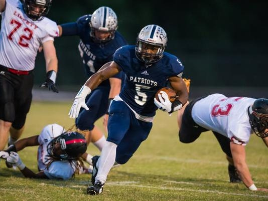 High School Football:  Liberty at Powdersville