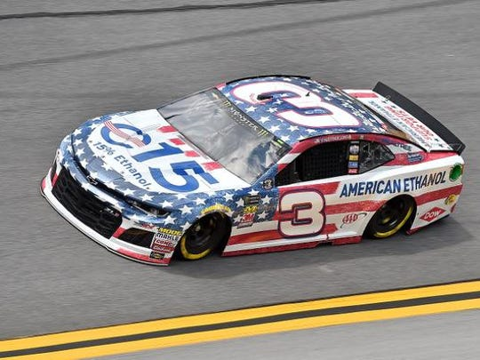 NASCAR Cup Series driver Austin Dillon (3) during practice for the Coke Zero Sugar 400 at Daytona International Speedway.