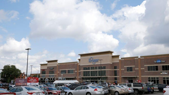 The newly rebuilt Kroger grocery store in the Corryville neighborhood of Cincinnati on Tuesday, Aug. 21, 2018.