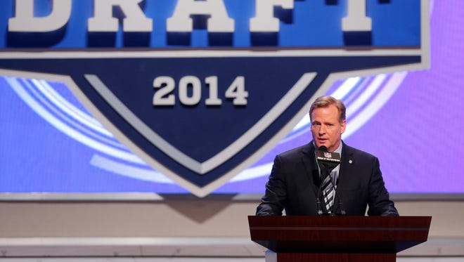 The NFL's newest rookies will have had domestic violence training by the time they see Roger Goodell on stage Thursday.