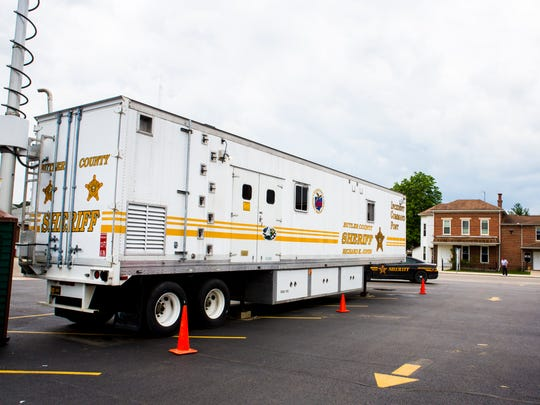 Butler County Sheriff's Incident Command Post is parked