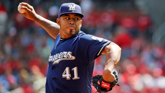 Brewers pitcher Junior Guerra earned a victory in his first start of the season April 11 against the Cardinals and followed that with another strong outing in the Brewers' 2-0 victory over the Reds on Tuesday.