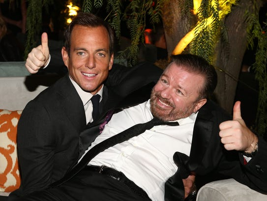 Ricky Gervais and Will Arnett ham it up at The Weinstein