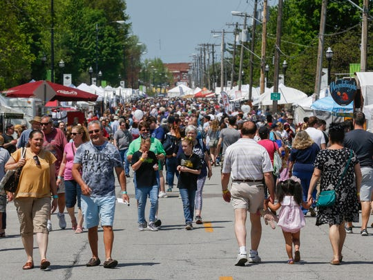 Scenes from Artsfest on Walnut Street on Saturday, May 5, 2018.