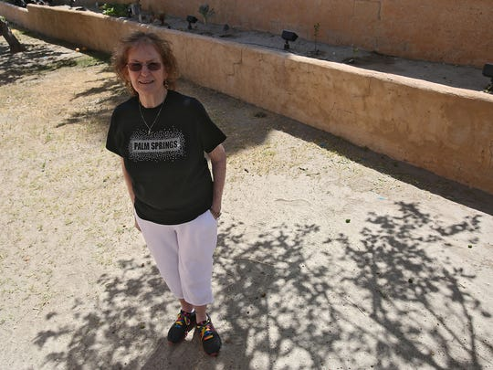 Maureen Ferriter chose to let her Palm Springs backyard grass dry up in order to convert it to desert landscaping. She said she is seeking a lawn removal rebate from the city of Palm Springs. Four of the six water districts in the Coachella Valley have been ordered by the state to cut back water use by 36 percent.