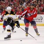 Boston Bruins defenseman Torey Krug (47) skates with