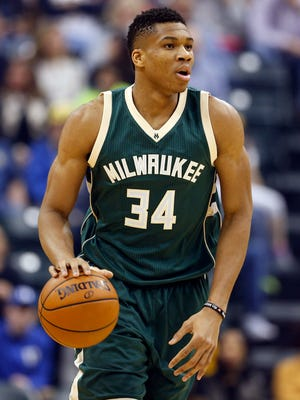 Milwaukee Bucks forward Giannis Antetokounmpo (34) continues to improve his game.